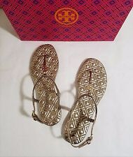 d9b0402f334 NIB Tory Burch Marion Quilted Leather T-Strap Sandal Mica Size 7.5