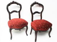 A pair of Victorian Carved Mahogany Balloon Back Nursing Chairs [ PL- 6621 )