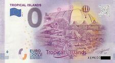 0 Euro Schein - Tropical Islands 2020-2 XEMK null € souvenir