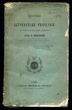 Histoire de la littérature française. E. GERUZEZ. Ed. J. Delalain 1852, signé