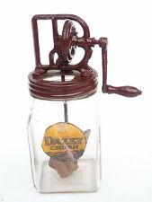 ANTIQUE DAZEY BUTTER CHURN EARLY PERIOD KITCHEN GLASS JAR TYPE WOODEN BLADE