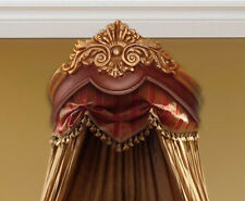 Beautiful Gold & Brown Crib Bed Crown - Real Wood - Canopy - Teester