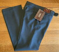 Deadstock 1979 Levis Sportswear Blue Polyester Action Slacks 32 x 34 Made in USA