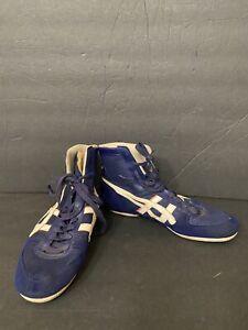 Vintage Asics Tiger Wrestling Shoes Size 8 JM-22 Blue 1970's *Rare*