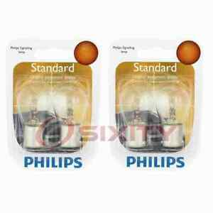 2 pc Philips Back Up Light Bulbs for Pontiac 6000 Acadian Astre Beaumont uo