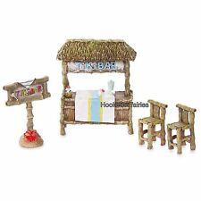 Miniature Fairy Garden  Mini Tiki Bar Kit  Set - 4 pc 30005295 Dollhouse