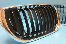 Front Right Hood Grill Passenger Side Replace BMW OEM# 51137030546 Chrome/Black