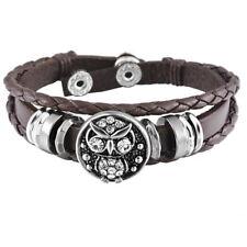 1 Braun Armband Armbänder mit Click Klick Buttons Wechselschmuck 21cm FL