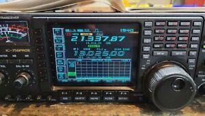 ICOM IC-756PROII HF/50Mhz Transceiver with ICOM PS-125 Power Supply