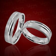 2 Silber Trauringe mit Gravur Eheringe Verlobungsringe Freundschaftsringe pr50