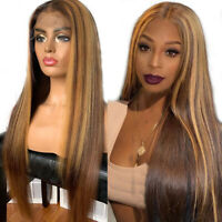 8A Highlight Blonde Brazilian Remy 13x6 Lace Front Human Hair Wig Pre Plucked