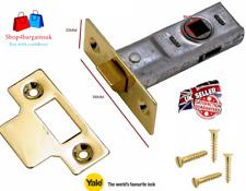Mortice Tubular Latch Internal Door Bolt Facility Handle Catch 64mm 2.5'' New