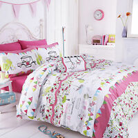 Hello Kitty Hampstead Heaths Girls Kids Childrens Bedding Set. Single, Double
