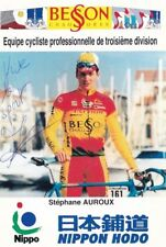 CYCLISME carte cycliste STEPHANE AUROUX équipe BESSON CHAUSSURES signée