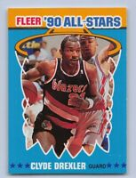 "1990-91  CLYDE DREXLER - Fleer ""ALL-STAR"" Basketball Card # 11 - TRAILBLAZERS"