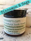 Natural Remineralizing Earth Clay Whitening Tooth Powder, Toothpaste Cinnamon
