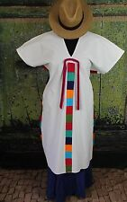 Hand embroidered Traditional Huipil Yalalag Zapotec Oaxaca Mexico Tunic Hippie