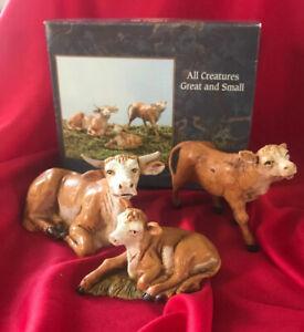 """Fontanini ~ OX FAMILY ~ 5"""" Nativity Pc 51534 Roman - 1992 italy - New in Box"""