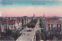 uralte AK, Braunschweig, Kaiser Wilhelm-Straße, 1915