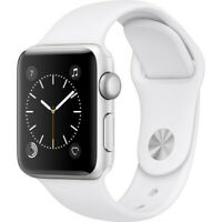 Apple Series 2 38mm Aluminum Case Smart Watch - White/Black (MNNW2LL/A)
