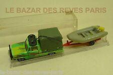 MAJORETTE FRANCE. Pick-up avec dinghy + boite. REF: 314.  (lot 2)