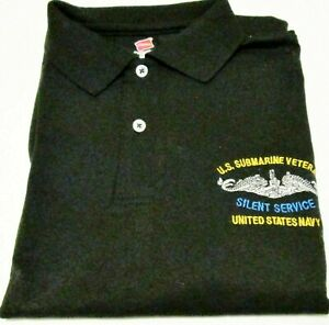 SUBMARINE VETERAN NAVY SILENT SERVICE  EMBROIDERED POLO SHIRT/SWEAT/JACKET.