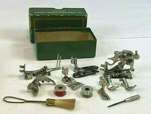 Vintage Singer #160809 Sewing Machine Attachments & Tools in Original Box 12 Pcs
