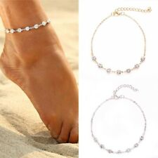 Chain Foot Beach S8S4 G1P3 Crystal Rhinestone Ankle Bracelet Women Anklet
