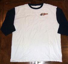 Lake County Captains Baseball Shirt White Navy Sleeves XL Cotton Minor League