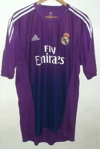REAL MADRID 2013 AUTHENTIC FOOTBALL GOALKEEPER SHIRT BY ADIDAS XL