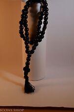 chotki, rope, komboskini, rosewood, garnet stone, with cross 50 prayer black