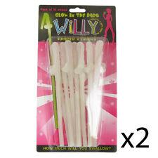 Novedad Willy en forma de Popotes diabólica Gallina Noche Joke Broma idea Regalo Pack De 20
