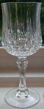 "Set of 3 Cristal d'Arques Longchamp Wine Glasses Lead Crystal 6"" 5 Oz"