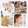 New Women Handmade Wood Bamboo Rattan Shell Pendant Dangle Drop Earrings Gifts