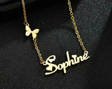 Custom Stainless Steel Name Necklace Butterfly Women Personalized Letter Gift