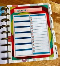 This Week Daily To Do Notes Dashboard Insert for use with HAPPY Planner