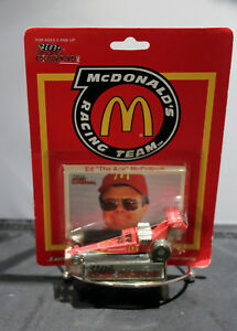 """McDonald's Racing Team Ed """"The Ace"""" McCulloch Dragster Racing Car in Sealed Pack"""