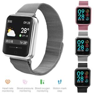 Bluetooth Smart Watch Blood Pressure Monitor Phone Mate for Samsung Note 8 9 10+