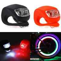 2x Silicone Bike Bicycle Cycling Front Rear Wheel LED Flash Light Safety Lamp