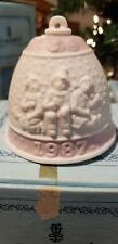 Lladro Fine Porcelain Jasperware Christmas Bell Ornament 1987~Never Used~W/Box~