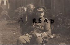 WW1 Officer Essex Regiment with daughter or Grand daughter
