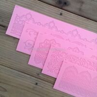 Silicone Embossing Sugar Lace Mold Gum Paste Fondant Icing Cake Decoration Mat