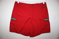 VTG 90s Nike Athletic Shorts Thick Red Nylon Board Shorts No Lining Mens Size 36