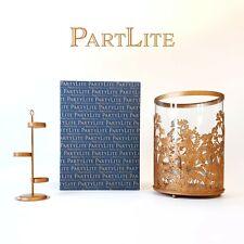 PartyLite Gold Hurricane Lantern Candle Holder - LARGE - Tea Light Holder - NEW!
