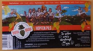München Hopfenhäcker Brewing Company 1 Bieretikett Craft/Micro