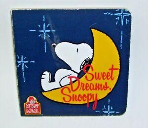 Sweet Dreams Snoopy Board Book 2011 Wendy's
