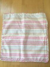 New Pottery Barn Pink Stripes Blue Green 16x16 Pillow Sham Cover Case Girl teen