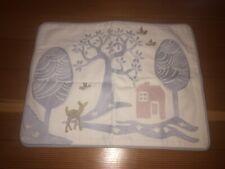 Pottery Barn Kids Crewel Pillow Sham New 12x16 Deer Birds House Tree Sample