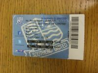 13/09/2014 Ticket: Southend United v Portsmouth  (folded, creased). Thanks for v