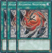 3X Recurring Nightmare -SR06-EN023- -Common-Yu-Gi-Oh- Lair of Darkness